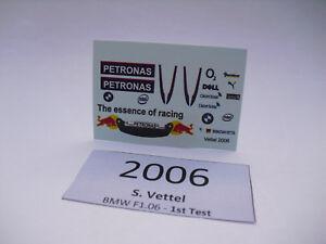 【送料無料】模型車 スポーツカー ドライバーウィリアムズベッテルデカールテストドライブtest drive with bmw williams s vettel 118 decal for resin driververy rare