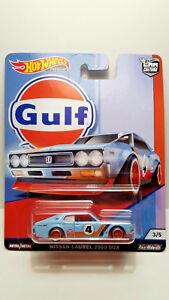 【送料無料】模型車 スポーツカー ホットホイールズ2000 sgx201935 hot wheels car cultures nissan laurel 2000 sgx gulf real riders 2019 35