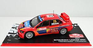 【送料無料】模型車 スポーツカー ランサーラリーモンテカルロ#mitsubishi lancer wrc rally montecarlo 2007 26 escala 143