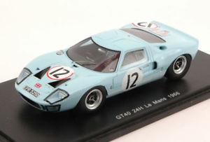 【送料無料】模型車 スポーツカー フォード#リタイアアイルランドリントモデルスパークモデルford gt40 12 dnf lm 1966 i irelandj rindt 143 model spark model