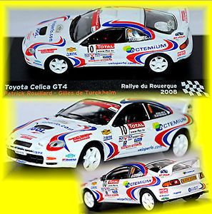 【送料無料】模型車 スポーツカー トヨタセリカグアテマララリーデュ#toyota celica gt4 rallye du rouerque 2008 10 p rouillardg turkheim 143