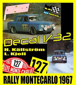 【送料無料】模型車 スポーツカー ルノーラリーモンテカルロdecalque 132 renault 8 gordini h kllstrml kjell rally montecarlo 1967