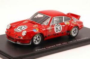【送料無料】模型車 スポーツカー ポルシェカレラロースバルトスパークモデルporsche carrera rsr n63 10th lm 1973 g loosj barth 143 spark s3398 model
