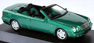 【送料無料】模型車 スポーツカー メルセデスベンツclk208199899143schucomercedes benz clk a 208 cabriolet 199899 green metallic 143 schuco