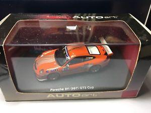 【送料無料】模型車 スポーツカー auto art porsche 911997gt3 cupporsche consulting143auto art porsche 911 997 gt3 cup porsche consulting 143