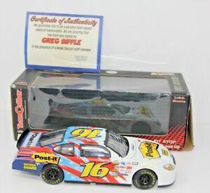 【送料無料】模型車 スポーツカー グレッグサインmポストシリーズgreg biffle autographed signed 3m postit diecast 2005 preferred series 124