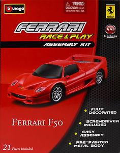 【送料無料】模型車 スポーツカー ferrari f 50 rojoキットconstruccion 143 debburagoferrari f 50 rojo kit construccin 143 de bburago