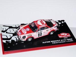 【送料無料】模型車 スポーツカー ネットワークラリービルドカルロルノーアルパインコケrmc1m 143 ixo altaya rally build carlo renault alpine a110 1600s 1972 moss