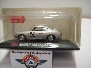 【送料無料】模型車 スポーツカー アバルト#ミッレミリアアシェットコレクションabarth 750 zagato 52 mille miglia 1957, hachette collection 143, ovp