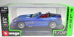 【送料無料】模型車 スポーツカー mercedes slr mclarenロードスターbleubburago13 2mercedes slr mclaren roadster bleu open scale 13 2 by bburago