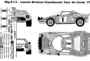 【送料無料】模型車 スポーツカー 124ランチアstratos agvシャルドンネラリーコルシカ197543レースディーキャル124 lancia stratos agv chardonnet rally corsica 1975 racing 43 decal