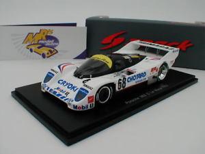 【送料無料】模型車 スポーツカー スパークポルシェルマンspark s4439 porsche 962 c no 68 24h le mans 1992 j almeras 143
