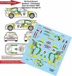 【送料無料】模型車 スポーツカー デカールフォードエスコートコスワースサントーニツールドコルスラリーラリーdecals 132 ref 36 ford escort cosworth santoni tour de corse 1997 rally rally:hokushin