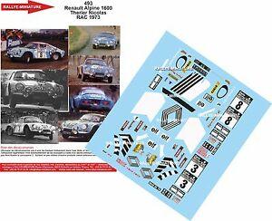 【送料無料】模型車 スポーツカー デカールアルパインルノーラリーラリーdecals 132 ref 493 alpine renault a110 therier rac rally 1973 rally wrc