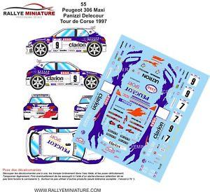 【送料無料】模型車 スポーツカー デカールプジョーマキシフランソワデルクールツールドコルスラリーラリーdecals 132 ref 55 peugeot 306 maxi delecour tour de corse 1997 rally rally wrc