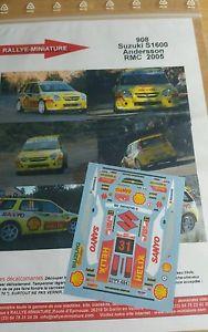 【送料無料】模型車 スポーツカー デカールスズキアンダーソンラリーモンテカルロラリーdecals 132 ref 908 suzuki ignis s1600 andersson rally monte carlo 2005 rally