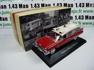 【送料無料】模型車 スポーツカー ネットワークアトラスコレクションキャデラックミラーamb2a 143 ixo atlas ambulance collection cadillac miller meteor 59hit