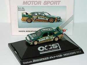 【送料無料】模型車 スポーツカー メルセデスベンツ187 mercedesbenz 190e 2516 evo ii dtm 1992 zakspeeddiebels nr17 asch