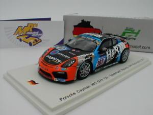 【送料無料】模型車 スポーツカー スパークポルシェケイマングアテマラニュルブルクリンクドリル#spark sg331 porsche cayman 981 gt4 cs 307 24h nrburgring 2017 drilling 143