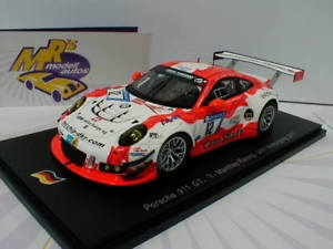 【送料無料】模型車 スポーツカー スパークsg323ポルシェ911 gt3 r 1214324hnurburgring 2017 mantheyspark sg323 porsche 911 gt3 r 12 24h nrburgring 2017 manthey racin