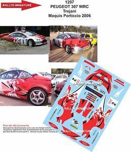 【送料無料】模型車 スポーツカー デカールプジョーデュラリーdecals 132 ref 1207 peugeot 307 wrc trojani rallye du maquis 2006 rally