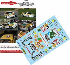 【送料無料】模型車 スポーツカー 1321072 porsche 911 vericellyon charbonnieres 2006ディーキャルdecals 132 ref 1072 porsche 911 vericel rally lyon charbonnieres 2