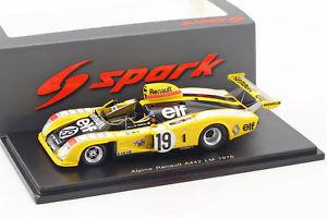【送料無料】模型車 スポーツカー アルパインルノー#ルマンタンalpine renault a442 19 24h lemans 1976 jabouille, tambay, dolhem 143 spark