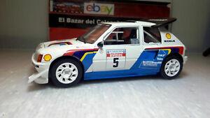 【送料無料】模型車 スポーツカー プジョーサビーネットワーク118 modified 1986 peugeot 205 t16 e2 saby fauchilleixo altaya 3l 050