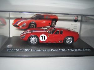 【送料無料】模型車 スポーツカー マセラッティparis trintignant 19641431000km 1513maserati 1513 1000 km from paris trintignant 1964 143