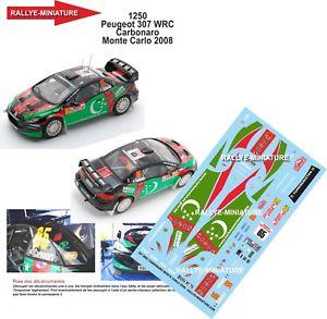 【送料無料】模型車 スポーツカー デカールプジョーモンテカルロラリーラリーdecals 124 ref 1250 peugeot 307 wrc carbonaro rallye monte carlo 2008 rally