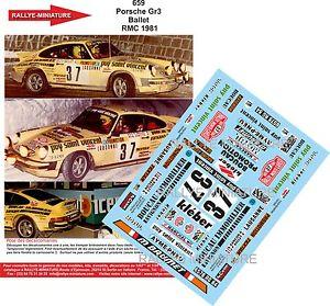 【送料無料】模型車 スポーツカー ディーキャル124659 porscheバレエrallyeモンテcarlo 1981911wrcdecals 124 ref 659 porsche 911 ballet rallye monte carlo 1981 rally wrc