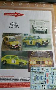 【送料無料】模型車 スポーツカー ディーキャル1241021 vw volkswagenゴルフgtitherier 1979rallyeモンテcarlodecals 124 ref 1021 vw volkswagen golf gti therier 1979 rallye
