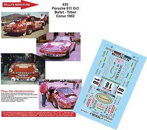【送料無料】模型車 スポーツカー デカールポルシェバレエツールドコルスラリーラリーdecals 124 ref 632 porsche 911 ballet tour de corse 1982 rally rally wrc