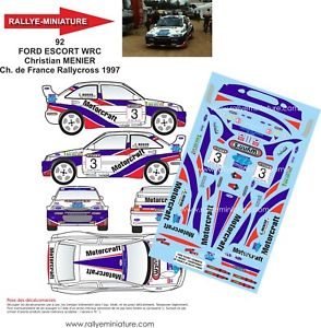 【送料無料】模型車 スポーツカー デカールフォードエスコートコスワースラリーdecals 124 ref 0092 ford escort cosworth wrc menier rallycross 1997 rally wrx