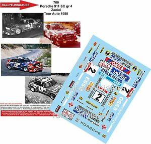 【送料無料】模型車 スポーツカー ディーキャル124700 porsche911zaninide france1980rallyedecals 124 ref 700 porsche 911 zanini tour de france auto 1980 rallye rall