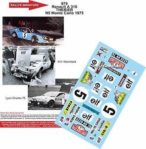 【送料無料】模型車 スポーツカー デカールアルパインルノーラリーモンテカルロラリーdecals 124 ref 979 alpine renault a310 therier 1975 rallye monte carlo rally