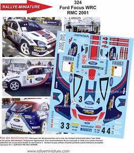 【送料無料】模型車 スポーツカー デカールフォードフォーカスカルロスサインツラリーモンテカルロラリーdecals 124 ref 0324 ford focus wrc carlos sainz rally monte carlo 2001 rally