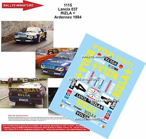 【送料無料】模型車 スポーツカー 1241115 lancia 037ディーキャルアルデンヌ1984エヴェレットdecals 124 ref 1115 lancia 037 rally everett circuit of ardennes 1984
