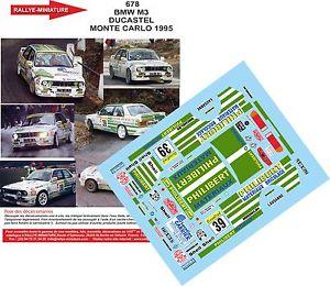 【送料無料】模型車 スポーツカー デカールモンテカルロラリーラリーdecals 124 ref 678 bmw m3 e30 ducastel rallye monte carlo 1995 rally wrc