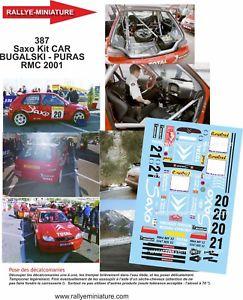 【送料無料】模型車 スポーツカー デカールシトロエンモンテカルロラリーラリーdecals 124 ref 0387 citroen saxo s1600 bugalski rallye monte carlo 2001 rally