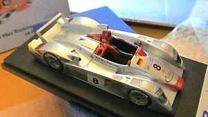 【送料無料】模型車 スポーツカー アウディチームヨーストルマンスパークbbr audi r8r team joest n8 winner le mans 2000 n amr bosica spark