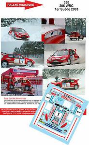 【送料無料】模型車 スポーツカー デカールプジョーグロンホルムラリースウェーデンスウェーデンラリーdecals 124 ref 530 peugeot 206 wrc gronholm rally sweden 2003 swedish rally