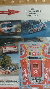 【送料無料】模型車 スポーツカー デカールシトロエンクリスラリーモンテカルロラリーdecals 124 ref 903 citroen c2 s1600 kris meeke rally monte carlo 2005 rally