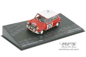 【送料無料】模型車 スポーツカー ミニクーパーラリーモンテカルロアルmini cooper s rally monte carlo 1964 hopkirkliddon 143 al 1964mc037i
