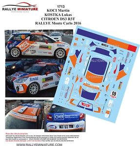 【送料無料】模型車 スポーツカー デカールシトロエンモンテカルロラリーラリーdecals 124 ref 1713 citroen ds3 r3 koci rallye monte carlo 2016 rally wrc