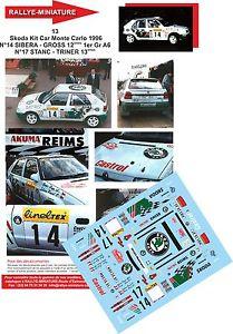 【送料無料】模型車 スポーツカー デカールコダキットラリーモンテカルロラリーdecals 124 ref 13 skoda felicia kit car sibera rally monte carlo 1996 rally
