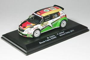 【送料無料】模型車 スポーツカー シュコダファビアラリー143 skoda fabia s2000baldrally barum 2011limited edition 130 s 2000