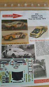 【送料無料】模型車 スポーツカー ディーキャル124652renault a310 therierde1975decals 124 ref 652 alpine renault a310 therier tour de corse 1975 rally rally