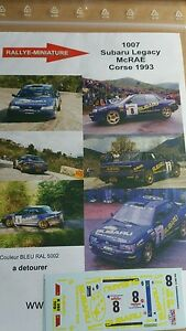 【送料無料】模型車 スポーツカー デカールスバルレガシィコリンレラリーツールドコルスラリーdecals 124 ref 1007 subaru legacy colin mc rae rally tour de corse 1993 rally
