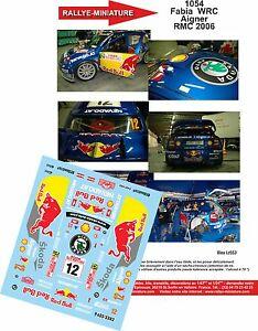 【送料無料】模型車 スポーツカー デカールシュコダファビアアイグナーモンテカルロラリーラリーdecals 124 ref 1054 skoda fabia wrc aigner rallye monte carlo 2006 rally wrc